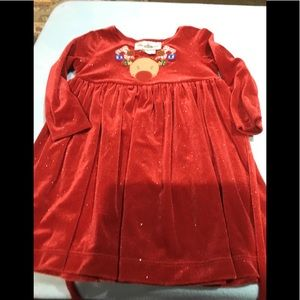 Girls 3T reindeer holiday dress cute